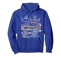 Disney Villains Map Premium T-shirt Hoodie Royal Blue