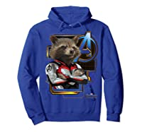 Marvel Avengers Endgame Rocket Logo Graphic T-shirt Hoodie Royal Blue