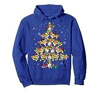 Shetland Sheepdog Christmas Tree Funny Sheltie Christmas T-shirt Hoodie Royal Blue