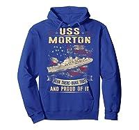 Uss Morton (dd-948) T-shirt Hoodie Royal Blue