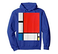 Composition With Red Blue And Yellow T-shirt Hoodie Royal Blue