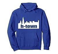Houston Texas Skyline Print H-town Pullover Shirts Hoodie Royal Blue