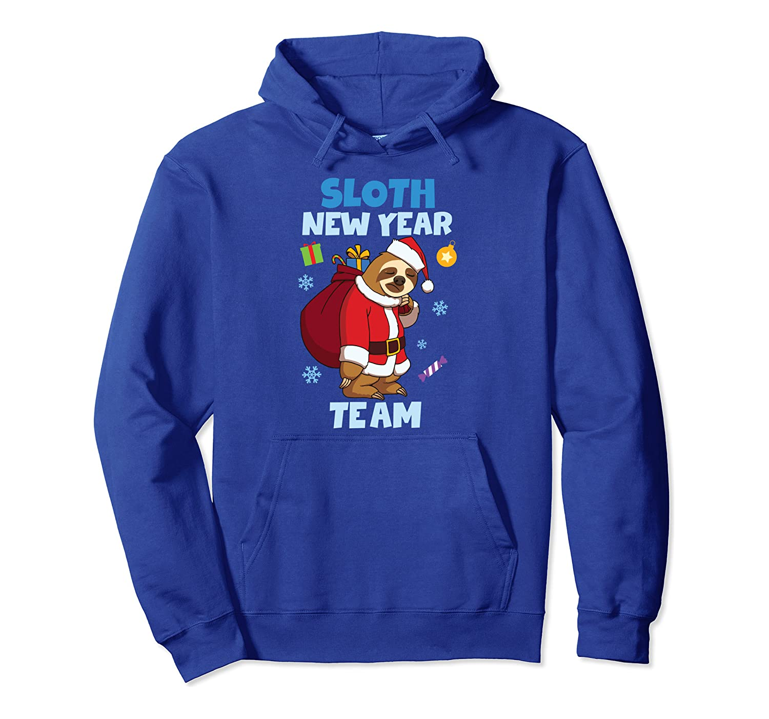 Sloth New Year Team Sloth Happy New Year 2020 Pullover Hoodie