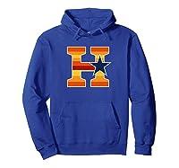 Houston Baseball H Vintage H Town Crush City Texas Gift Shirts Hoodie Royal Blue