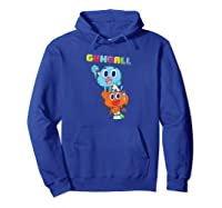 The Amazing World Of Gumball Gumball Spray Shirts Hoodie Royal Blue