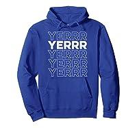 Yerrr New York Pullover Shirts Hoodie Royal Blue