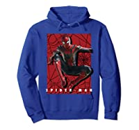 Marvel Infinity War Spider-man Web Jump Graphic T-shirt Hoodie Royal Blue