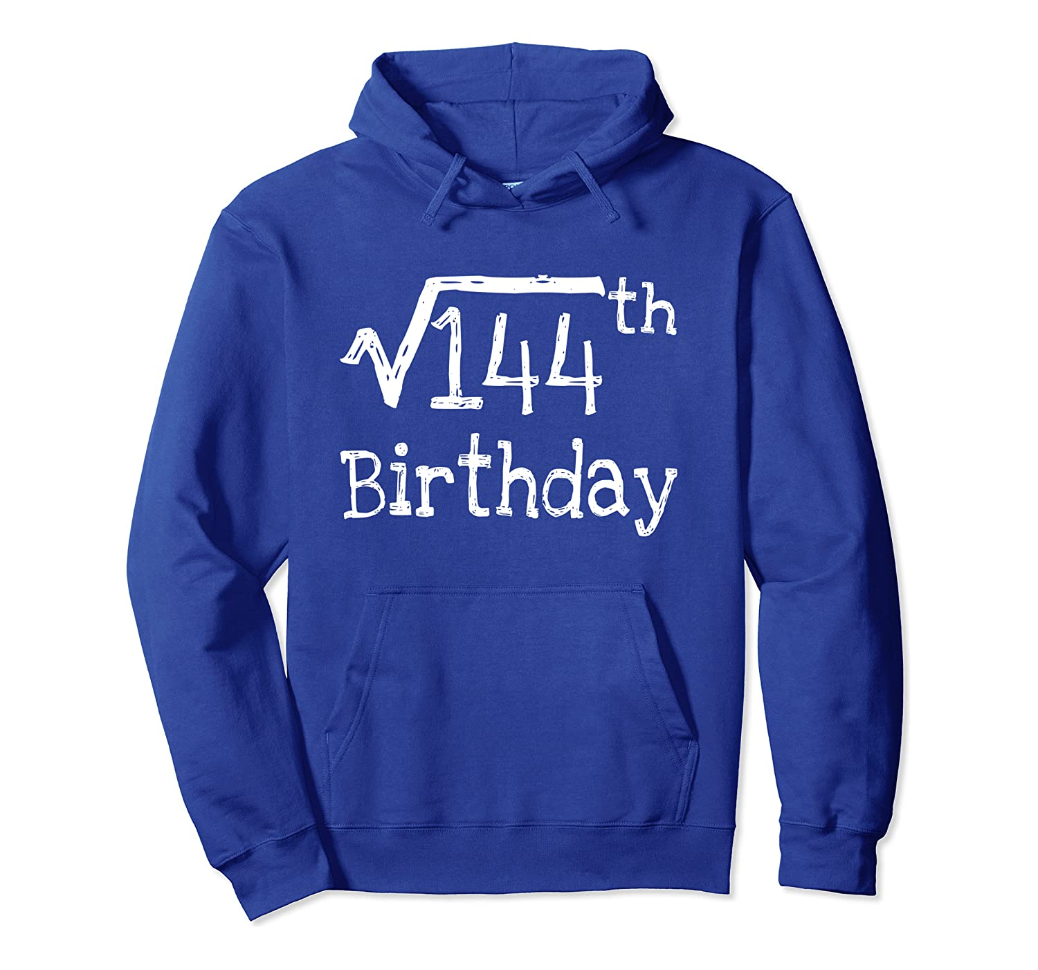 12 years old gift Square Root of 144 Math 12th birthday kids Pullover Hoodie