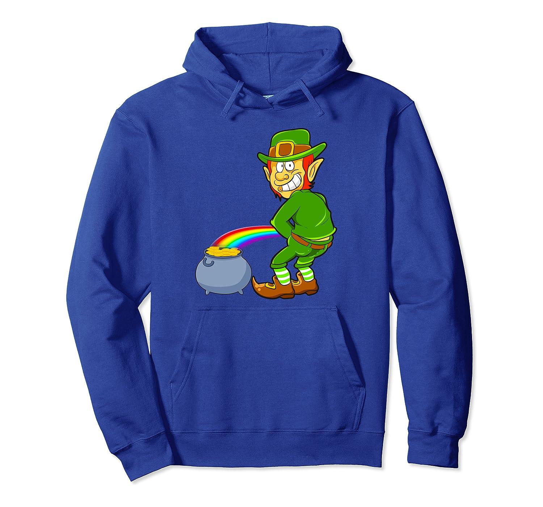 Funny St Patrick's Day Leprechaun Shenanigator Costume Boys Pullover Hoodie-Awarplus