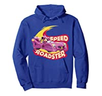 Mickey And The Roadsters Race Minnie Car Shirts Hoodie Royal Blue