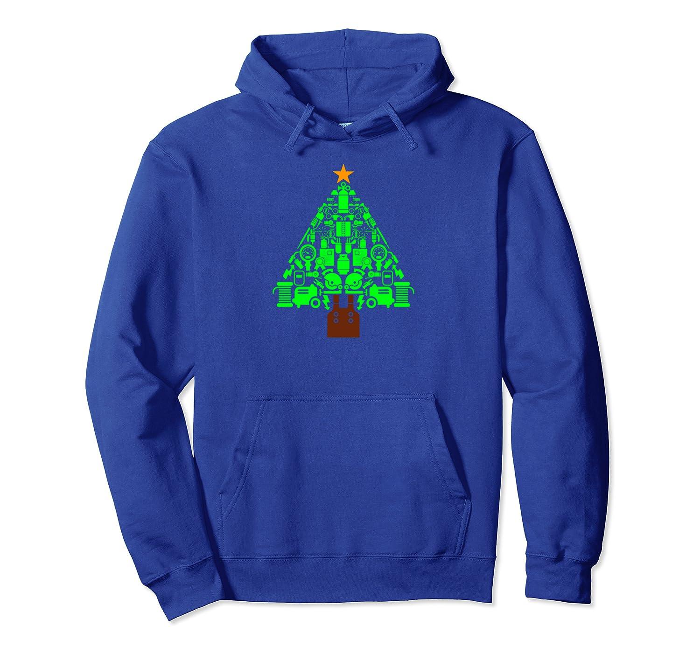 Welder Christmas Tree. Funny Welders Gift Pullover Hoodie