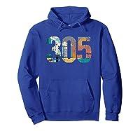 305 Dade County Miami Shirts Hoodie Royal Blue
