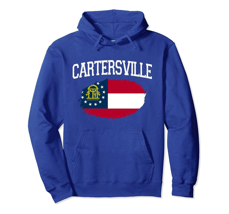 CARTERSVILLE GA GEORGIA Flag Vintage USA Sports Men Women Pullover Hoodie-Cotoa