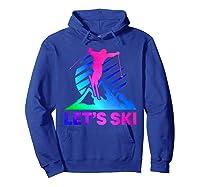 Retro Ski Vintage 80s 90s Skiing Out Shirts Hoodie Royal Blue
