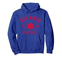 Atlanta Baseball   Atl Vintage Brave Retro Gift Pullover Shirts Hoodie Royal Blue