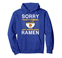 Kawaii Ra Japanese Noodle Food Anime Funny Shirts Hoodie Royal Blue