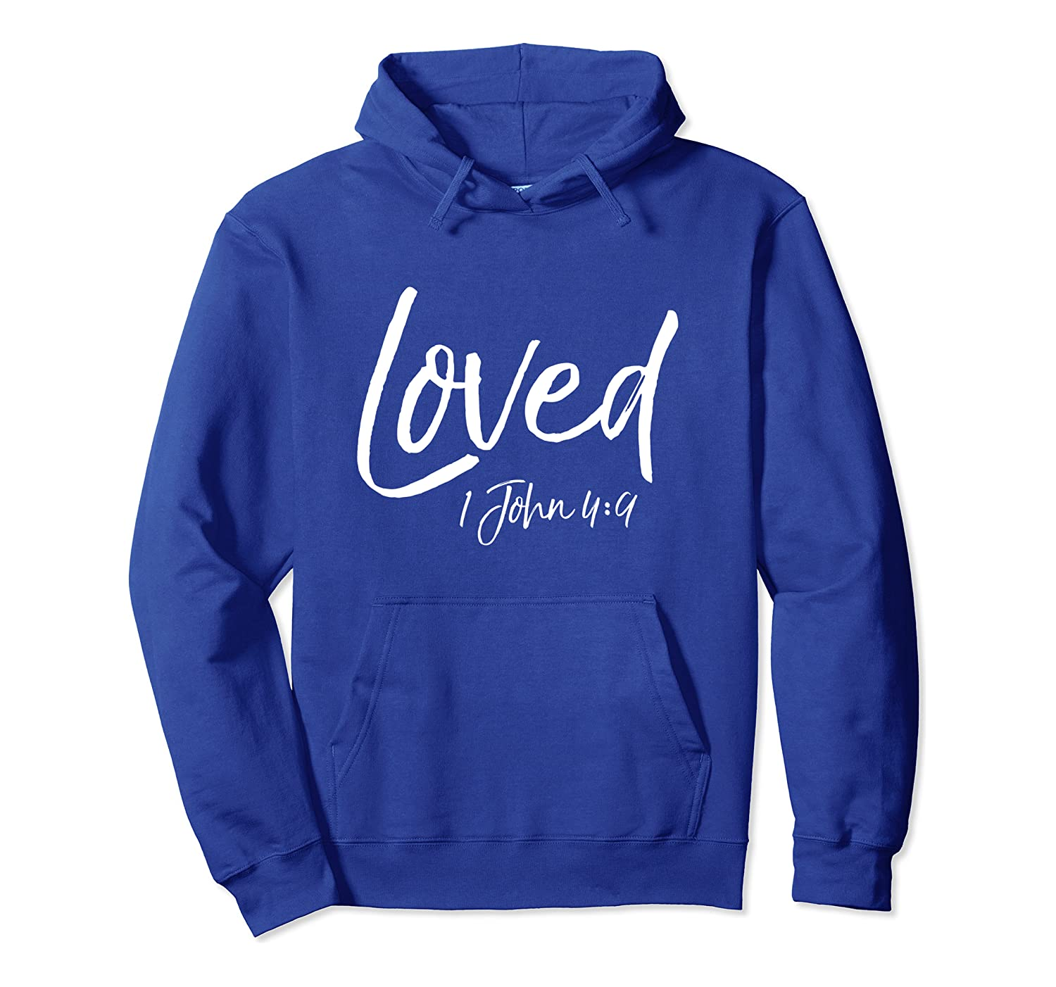 1 John 4:9 Bible Verse Quote Love of Christ Gift Cute Loved Pullover Hoodie