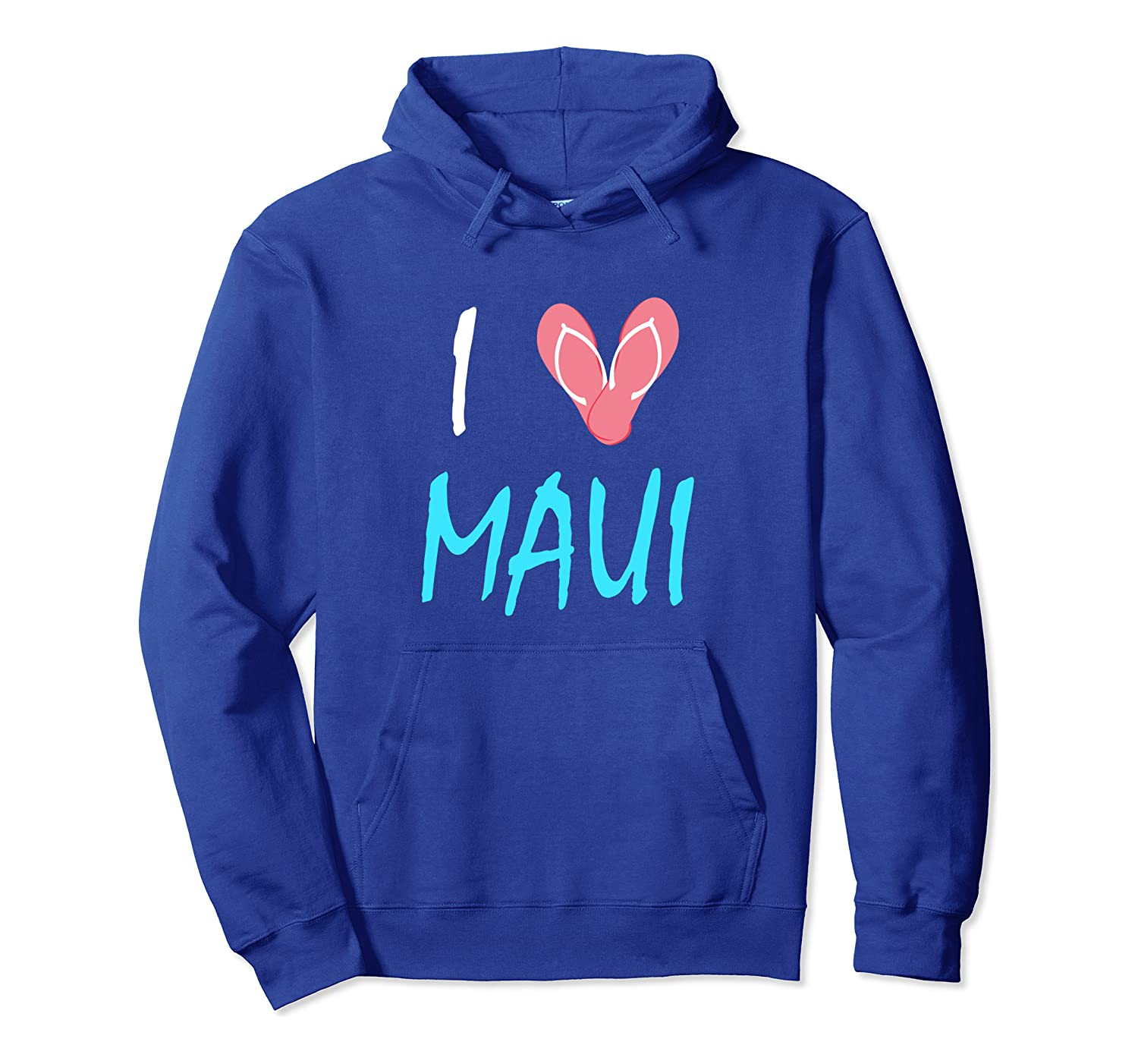 I Love Maui Cute Hawaii Heart Sandals Souvenir Pullover Hoodie
