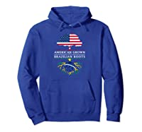 American Grown With Brazilian Roots Brazil Shirts Hoodie Royal Blue