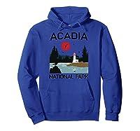 Vintage Acadia National Park Retro 80s Maine Mount Island Shirts Hoodie Royal Blue