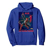 Marvel Avengers Infinity War I Am Spider-man T-shirt Hoodie Royal Blue