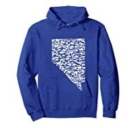 State Of Nevada Made Up Of Guns 2nd Adt Rights Shirts Hoodie Royal Blue