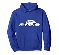 Papa Bear T Shirt With Two Cubs Father S Day Dad Hoodie Royal Blue