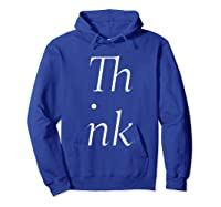 Think Stacked Puzzle Decode Typographic Gift T Shirt Hoodie Royal Blue