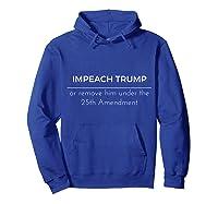 Impeach Trump Anti Trump Short Sleeve T Shirt Hoodie Royal Blue