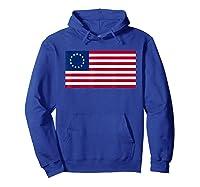 Usa American Flag 13 Stars Betsy Ross Patriotic 4th Of July T Shirt Hoodie Royal Blue