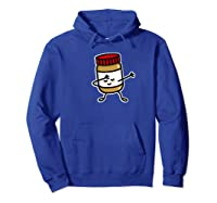 Dab Dabbing Peanut Butter Jar Funny Jelly Spreads Premium T Shirt Hoodie Royal Blue