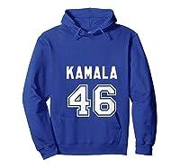 Kamala 46 - Sports Style Kamala Harris Supporter T-shirt Hoodie Royal Blue