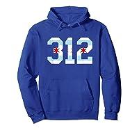 312 Chicago Flag Area Code City Pride T Shirt Hoodie Royal Blue