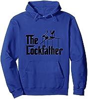 Funny Locksmith - Lockfather T-shirt Hoodie Royal Blue