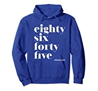 Anti Trump Eighty Six Forty Five 8645 Impeach T Shirt Hoodie Royal Blue