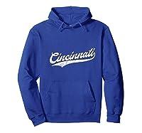 Cincinnati Baseball Ohio Pride Vintage Retro Red Gift Shirts Hoodie Royal Blue