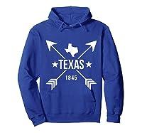 Texas 1845 Shirts Hoodie Royal Blue