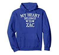 My Heart Belongs To Zac- Country Music Gift Premium T-shirt Hoodie Royal Blue