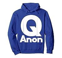 Qanon Tshirt Classic Q Shirt Wwg1wga Trump Rally T-shirt Hoodie Royal Blue