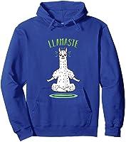 Da Ste - Namaste Yoga Meditation Hatha Xmas T-shirt Hoodie Royal Blue