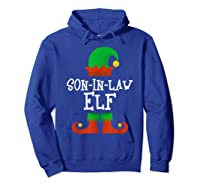 Son-in-law Elf Christmas Funny T-shirt Hoodie Royal Blue