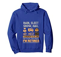 Postal Worker Retiret Gifts Funny Post Office Shirts Hoodie Royal Blue