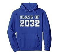 Class Of 2032 Pre K Graduate Preschool Graduation Shirts Hoodie Royal Blue