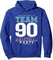 90th Birthday Funny Gift Team Age 90 Years Old T-shirt Hoodie Royal Blue