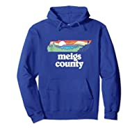 Meigs County Tennessee Outdoors Retro Nature Graphic Tank Top Shirts Hoodie Royal Blue
