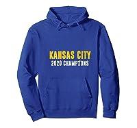 Distressed Vintage Retro Kansas City 2020 Champions Trophy Shirts Hoodie Royal Blue