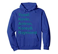 Central Park 5 T-shirt Central Park 5 Real Story Tshirt Hoodie Royal Blue
