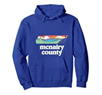 Mcnairy County Tennessee Outdoors Retro Nature Graphic T Shirt Hoodie Royal Blue