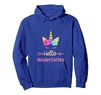 1st Day Of Kindergarten Unicorn Hello Kindergarten Girls Shirts Hoodie Royal Blue