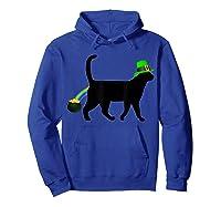 Cat Leprechaun Shirt Funny Cat Saint Patrick S Day Shirt Hoodie Royal Blue